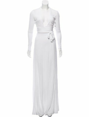 Issa Dottie Wrap Gown White