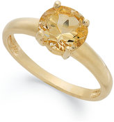 Townsend Victoria 18k Gold over Sterling Silver Ring, Citrine November Birthstone Ring (1-1/3 ct. t.w.)