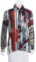 Jean Paul Gaultier Semi-Sheer Printed Top