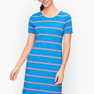 Talbots Ladder Back Stripe T-Shirt Dress