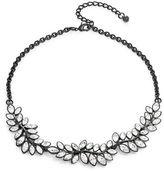 Kenneth Jay Lane Crystal Leaf Cluster Collar Necklace