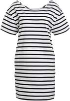 American Vintage RICOBEACH Jumper dress white/black