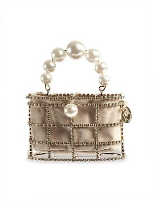 Rosantica Mini Holli Embellished Top Handle Clutch