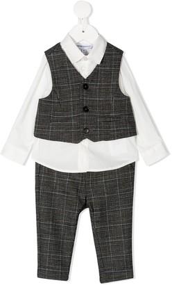 Emporio Armani Kids Three-Piece Waistcoat Set