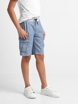Gap Chambray pull-on cargo shorts