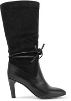 Chloé Suede And Leather Boots - Charcoal