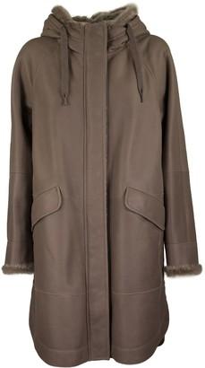 Brunello Cucinelli Outerwear Jacket Outerwear In Sheepskin With Monili