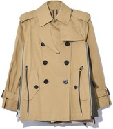Sacai Cotton Coating Jacket in Beige/Khaki