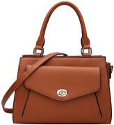 Mkf Collection By Mia K. MKF Collection by Mia K. Women's Satchels Cognac - Cognac Brown Turn-Lock Katie Satchel