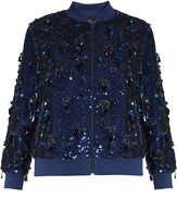 Ashish Sequin-embellished silk bomber jacket