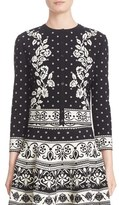 Alexander McQueen Floral Jacquard Knit Cardigan