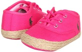 Ralph Lauren Bowman Lace (Infant/Toddler) (Bright Blush Canvas) - Footwear