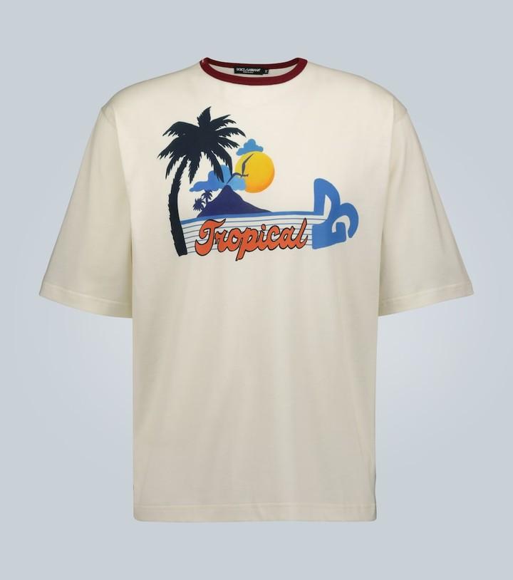 Dolce & Gabbana Printed motif cotton T-shirt