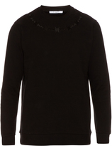 Givenchy Cuban-fit barbed wire-embroidered sweatshirt