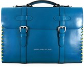 Anchor & Crew Traffic Blue Rufford Leather & Rope Briefcase