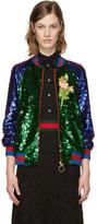 Gucci Multicolor Sequin Bomber Jacket