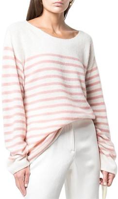 Adam Lippes Boatneck Cashmere & Silk-Blend Sweater
