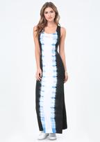Bebe Petite Tie Dye Maxi Dress
