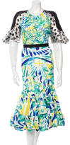Peter Pilotto Fluted Midi Dress