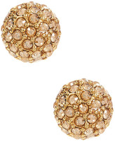 Givenchy Pave Crystal Stud Earrings