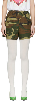 Ashley Williams SSENSE Exclusive Green and Brown Camo Tropic Shorts