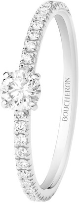 Boucheron Platinum and Diamond Beloved Solitaire Ring