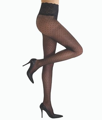 Commando Chic Dot Sheer Pantyhose