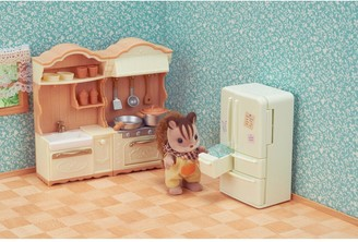 Sylvanian Families Dining Room Set & Kitchen Play twin pack