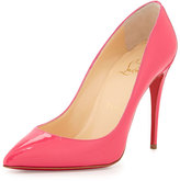 Christian Louboutin Patent Pointed-Toe Red Sole Pump, Pink