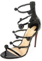 Christian Louboutin Atonana Patent Strappy Red Sole Sandal