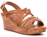 Jessica Simpson Girls' Fallon Beaded Wedge Sandals