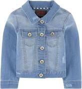 Catimini Embroidered back jean jacket