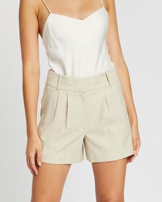 Reiss Lauren Melange Fabric Shorts