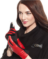 Charter Club Gloves, Colorblock Stretch Leather Tech Touch Gloves