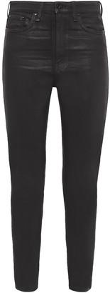 Rag & Bone Nina Cropped Coated High-rise Skinny Jeans