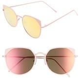 BP Women's 55Mm Mirrored Cat Eye Sunglasses - Black