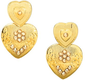 Gas Bijoux 24K Yellow Goldplated Heart Earrings