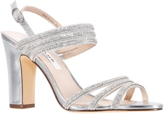 Nina Shandra Crystal Embellished Slingback Sandal