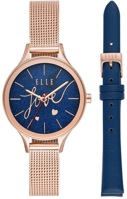 Elle Ternes Rose Gold-Tone Analogue
