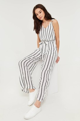 Ardene Striped Belted Jumpsuit