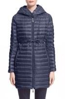 Moncler 'Barbel' Water Resistant Long Hooded Down Jacket