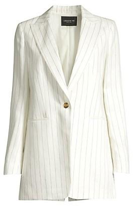 Lafayette 148 New York Beau Pinstripe Linen Blazer
