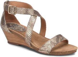 Sofft Leather Wedge Sandals - Valeryn