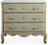 Modern History Parisan 3-Drawer Marble Dresser, Seafoam