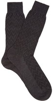 Pantherella Chalcot chevron-knit cotton-blend socks