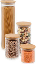 Honey-Can-Do 4-Pc. Glass & Bamboo Canister Set
