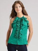 Goodbye Ruffled Silk Top