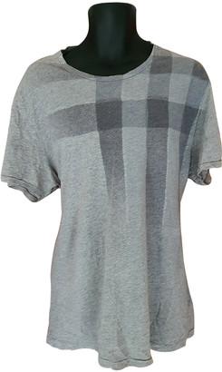 Burberry Grey Cotton T-shirts