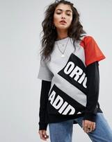 adidas Berlin Logo T-Shirt With Mesh Sleeve