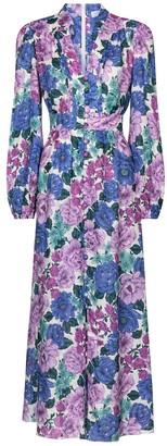 Zimmermann Poppy floral linen midi dress